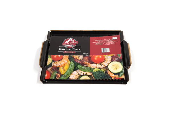 Brander Porcelain Coated Flat Grilling Tray - In Packaging