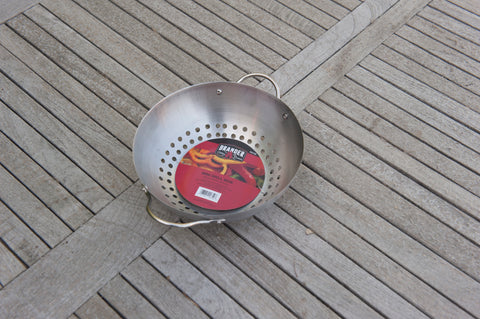 Brander Round Mini Grill Wok Basket - TR758 | Barbecues Galore