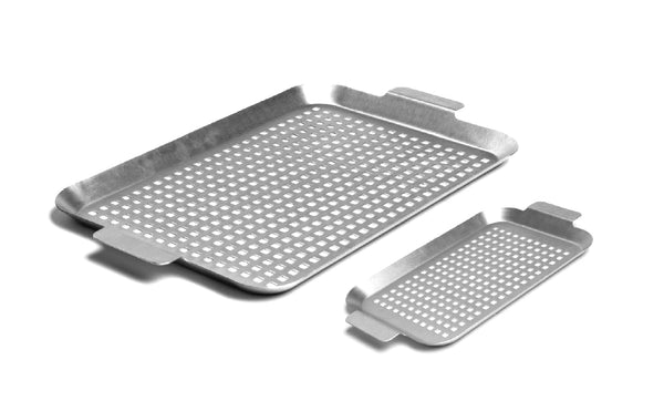 Set of Two Stainless Steel Grilling Grids