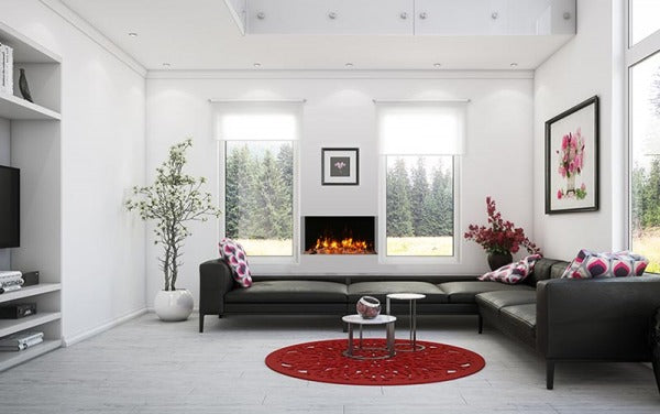 "Amantii Tru-View Slim 30"" 3-Sided Linear Electric Fireplace 