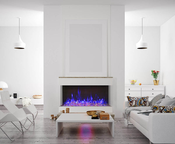 "Amantii Tru-View XT 50"" 3-Sided Linear Electric Fireplace 