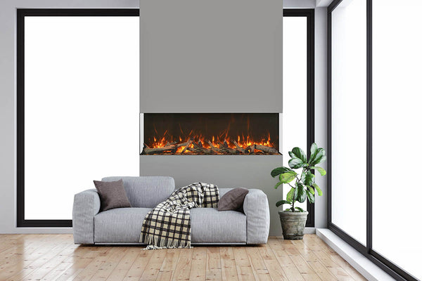 "Amantii Tru-View XT 72"" 3-Sided Linear Electric Fireplace 