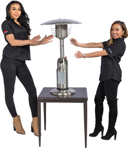 Brander Tabletop Patio Heater - Stainless Steel