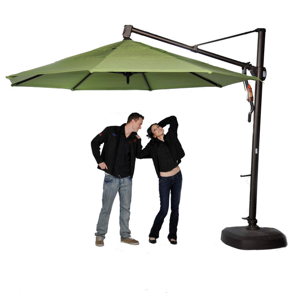 TREASURE GARDEN AKZ11 - 11 FT PREMIUM CANTILEVER UMBRELLA