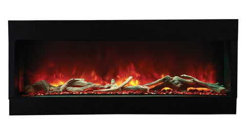 "Amantii Tru-View 60""  3-Sided Linear Electric Fireplace l Barbecues Galore"