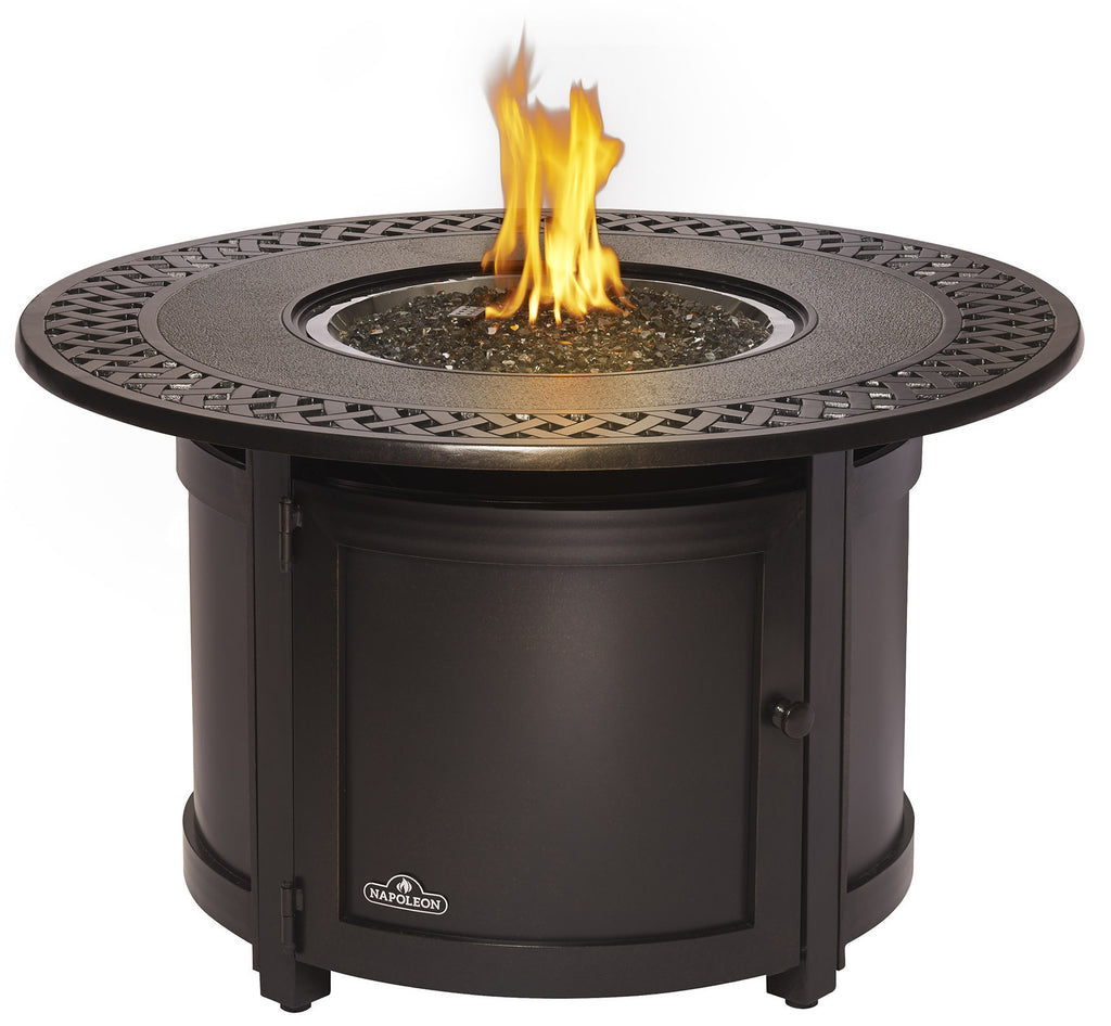 Fire Pit Bbq Galore Part - 39: Napoleon Patio Flame Victorian Fire Table - Round