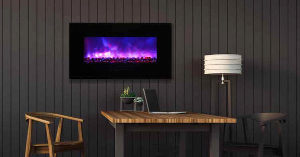 "Amantii 34"" Flush Mount Electric Fireplace"