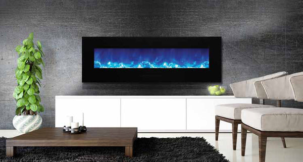 "Amantii 60"" Flush Mount Electric Fireplace l Barbecues Galore"