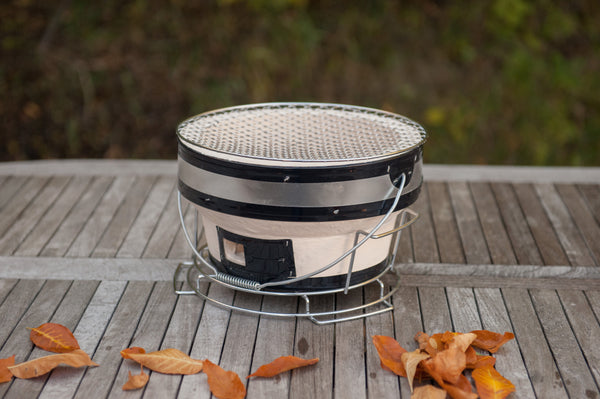 Big Boy Ceramic Round Hibachi Grill | The perfect summer companion, pack up this portable charcoal bbq and get on the road | Barbecues Galore in Calgary, Burlington, Etobicoke & Oakville