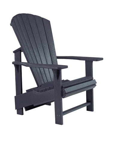 CRP Upright Adirondack Chair Black