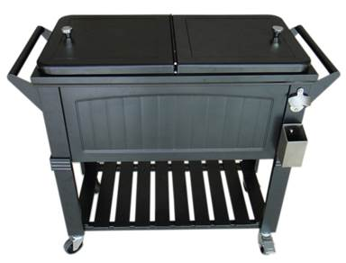 Brander Antique Patio Cooler - Ebony