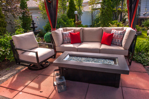 The stunning Mallin Maderia patio collection, with 3 seater sofa and swivel arm chair.  Both beautiful and comfortable all in one package.  Enjoy your outdoor patio this summer. Barbecues Galore: Burlington, Oakville, Etobicoke & Calgary.