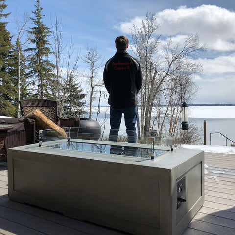 Outdoor Great Room Cove Linear Fire Feature CV-1242 - If you're looking for a stunning fire feature to keep you warm on those cool summer and fall evenings, you've come to the right place.  Come get yours this patio season at Barbecues Galore: Burlington, Oakville, Etobicoke & Calgary