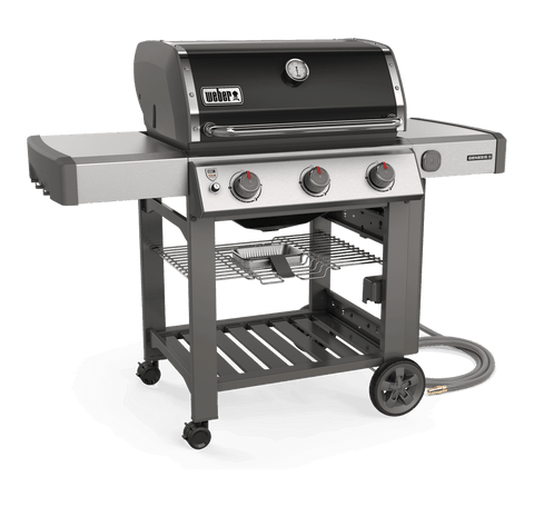 Weber Genesis II E-310 – Natural Gas | A reliable barbecue, with a fantastic 10 year warranty, at a great price point. All packaged in a gorgeous black enamel lid, ready for grilling this summer | Shop Weber at Barbecues Galore in Calgary, AB and Burlington, Oakville and Etobicoke, ON