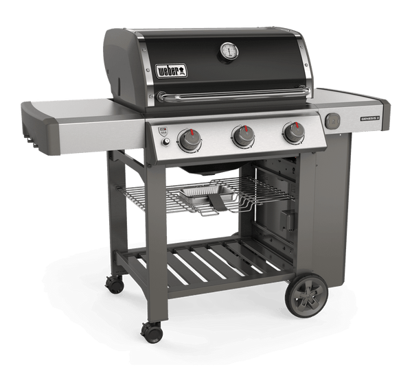 Weber Genesis II E-310 – Propane | A throwback to summers past with Weber's classic open cart design, brought into the present with an upgraded burner design, headed for the future with their 10-year warranty | Barbecues Galore: Calgary, Etobicoke, Oakville and Burlington