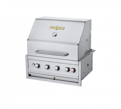 "Crown Verity Estate Elite 30"" Built-In Grill - Natural Gas Grill 