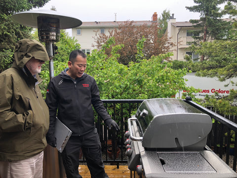 Weber Genesis II CSE-335 – Propane | Exclusive to just a few Weber retailers (us included!), this bbq features upgrades like 9mm stainless steel cooking grills and a free iGrill 3 bluetooth thermometer | Barbecues Galore: Calgary, AB and Burlington, Etobicoke and Oakville, ON