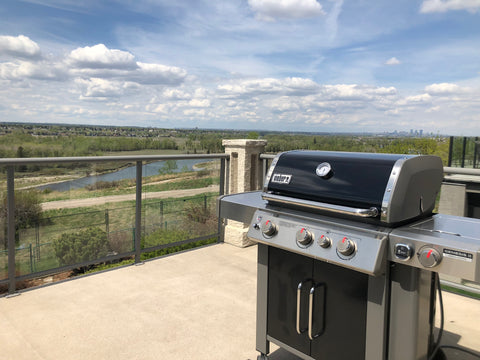 Weber Genesis II CSE-335 in a beautiful landscape, perfect for summer grilling | Barbecues Galore: Etobicoke, Oakville, Burlington & Calgary