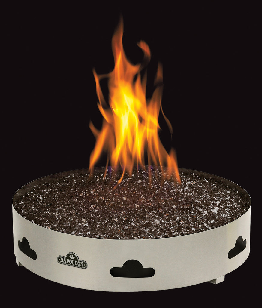 round firepit napoleon patio flame barbecues galore