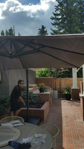 TREASURE GARDEN AKZSQ 10 FT SQUARE PREMIUM CANTILEVER UMBRELLA