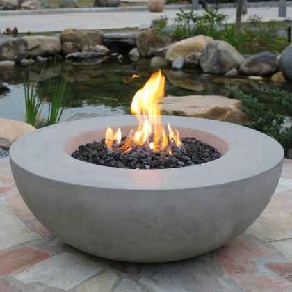 The Horton Fire Bowl is built as solid as a rock, but luckily not quite as heavy. This cast concrete constructed fire table was made to fit the elegance of any style of patio furniture. Shop other shapes of fire features at any of Barbecues Galore's five locations across Canada in Etobicoke, Oakville and Burlington Ontario and in Calgary, Alberta.