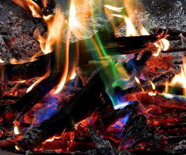 Rainbow Fire Flame Colouring Crystals