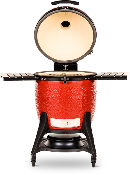 The Kamado Joe Big Joe III With Cart.  One of the largest ceramic kamado grills you'll find out there.  Outstanding quality and style, the Big Joe is your key to out of this world charcoal grilling.  Get yours this summer at Barbecues Galore: Burlington, Oakville, Etobicoke & Calgary