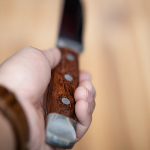 BRANDER STEAK KNIFE w/ ROSEWOOD HANDLE