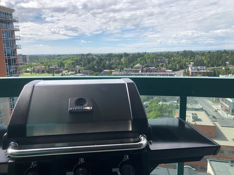 The Sterling Winston overlooking a beautiful town, just in-time for some summer time BBQ. Available at Barbecues Galore: Burlington, Oakville, Etobicoke & Calgary