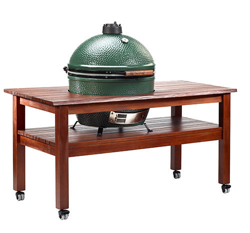 BIG GREEN EGG MAHOGANY PLANK TABLE
