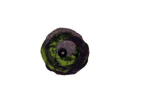 Small Green  Brooch