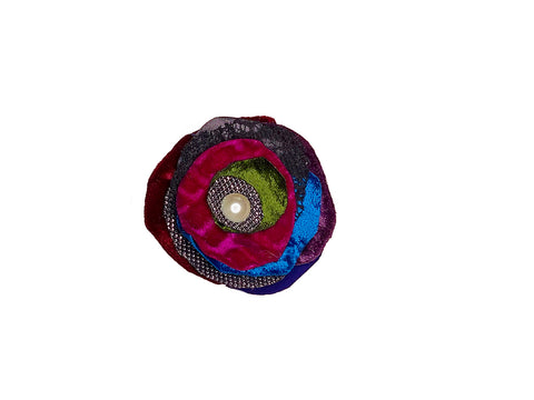 Small Multi Coloured Brooch