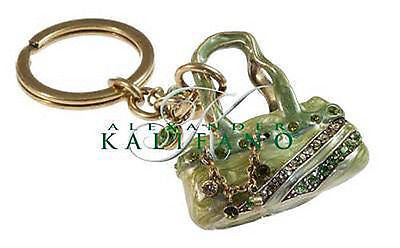 Fashion Costume Jewelry Classic Purse Swarovski Crystal Keychain SCK-012