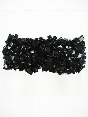 Fashion Costume Natural Stone Onyx Stretch Bracelet  11-00 ON
