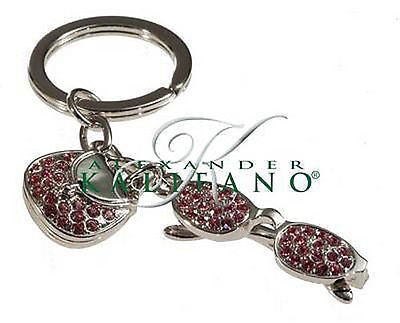 Fashion Costume Jewelry Classic Glasses and Purse Crystal Key Chain SKC-035
