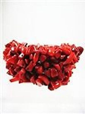 Natural Stone Coral Stretch Fashion Jewelry Bracelet  11-00 Coral