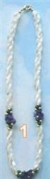 "Fashion Costume Jewelry Clustered Twisted Twister mop 24"" Necklace : 20061-1 - All Fashion Jewelry"