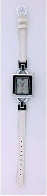 Fashion Costume Jewelry Classic White Fashion Strap Watch : 1293-S-WT - All Fashion Jewelry
