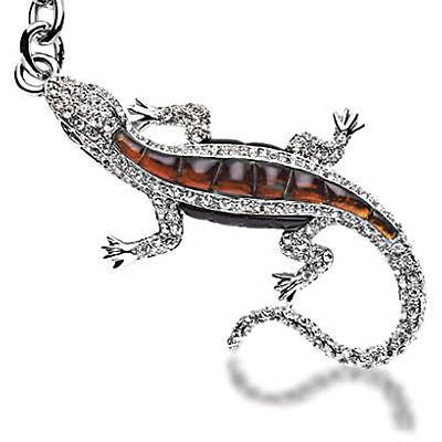 Fashion Costume Jewelry Classic Lizard Head Crystal Key Chain SKC-038