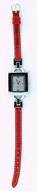 Fashion Costume Jewelry Simple Red Fashion Strap Watch : 1293-S-RD - All Fashion Jewelry
