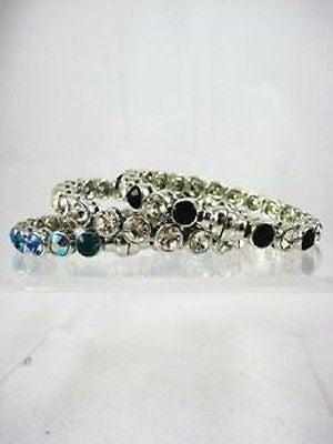 Fashion Costume Jewelry Beautiful Silver Magnetic Bangle Bracelet  495 - Magnet