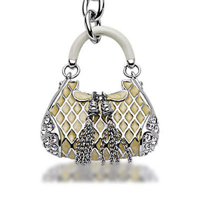 Fashion Costume Jewelry Beautiful Classic Purse Crystal Key Chain SKC-055