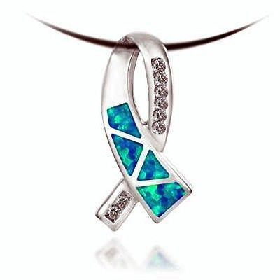 Fashion Costume Jewelry Ribbon Aqua Opalite Necklace : AKP1032-AO - All Fashion Jewelry