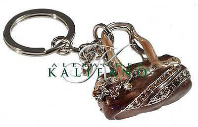 Fashion Costume Jewelry Classic Purse Swarovski Crystal Keychain SKC-011