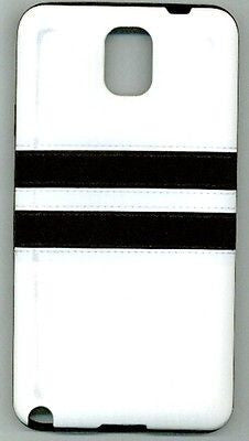 'Silicone Case for Samsung Galaxy Note 3 - Stripes white