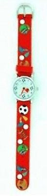 Fashion Costume Jewelry Cute Fun Red Multi Sports Kids Watch : CH-51-RD