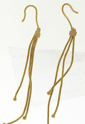 Elegant Simple Dangle Gold Layered Earrings 02010074