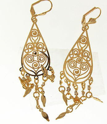 Charming Dangle Gold Layered Earrings Fashion Costume Jewelry 0210035