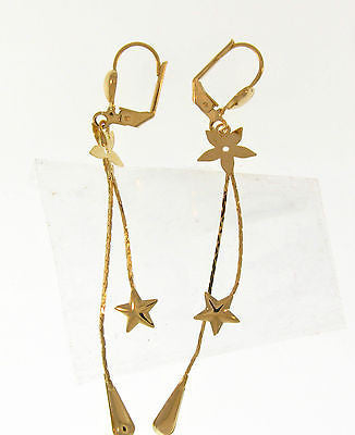 Elegant Drop / Dangle Gold Layered Earrings 02120002