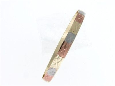 Large Tri Colored Gold Layered Bracelet : Tricolor Lar